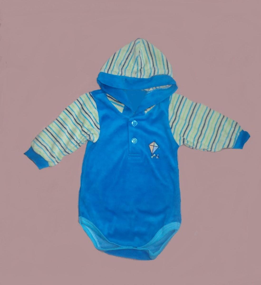 Blusa body c  capuz em plush para bebê no Elo7  cb99b810ff11