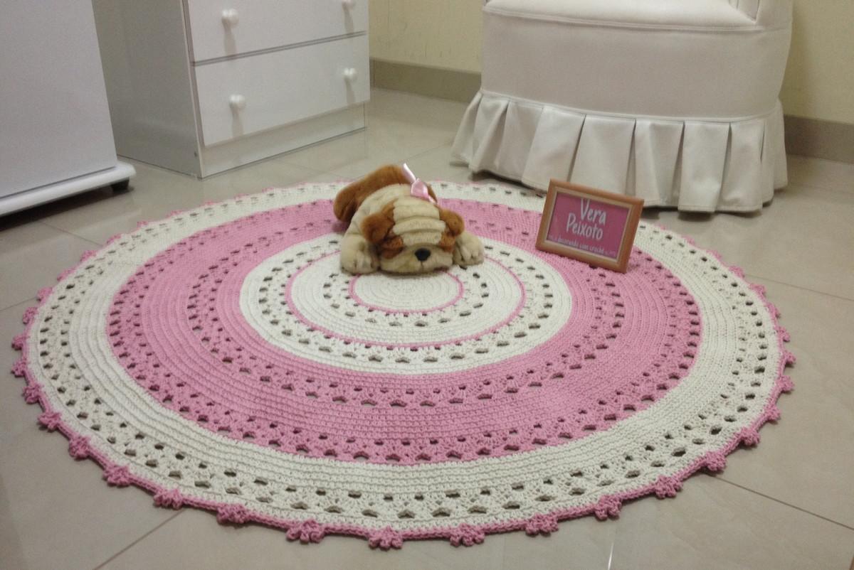 tapete de croche rosa beb karina ateli vera peixoto. Black Bedroom Furniture Sets. Home Design Ideas