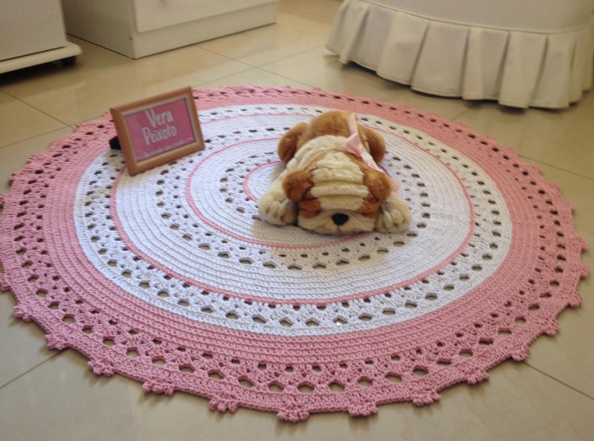tapete croche rosa baby roberta ateli vera peixoto elo7. Black Bedroom Furniture Sets. Home Design Ideas