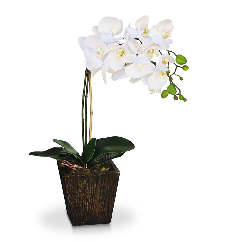 Arranjo de flores Artificiais orquidea no Elo7 Felicitadecor (7A2F6C) -> Decoração Arranjos De Flores Artificiais