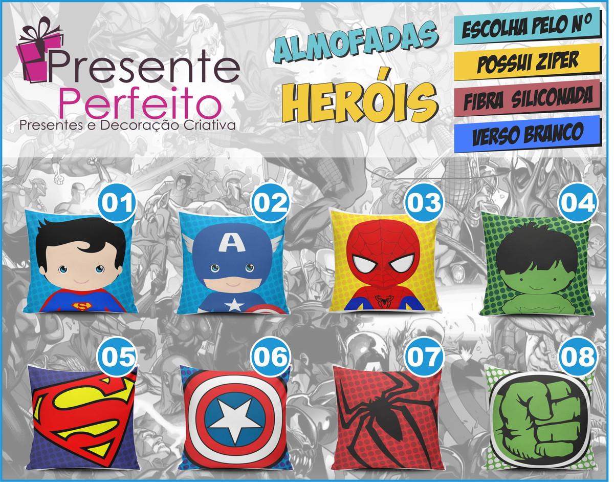 a395ac8b79 Almofadas Heróis Decoração Super Herói almofada super herois no Elo7 ...