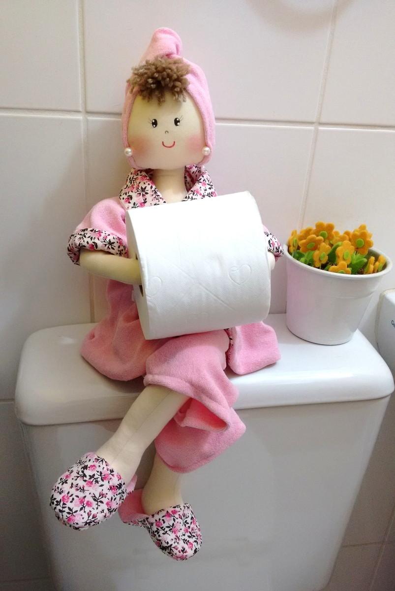 Boneca pano porta papel higienico bn052 imagine art for Colgadores para papel higienico