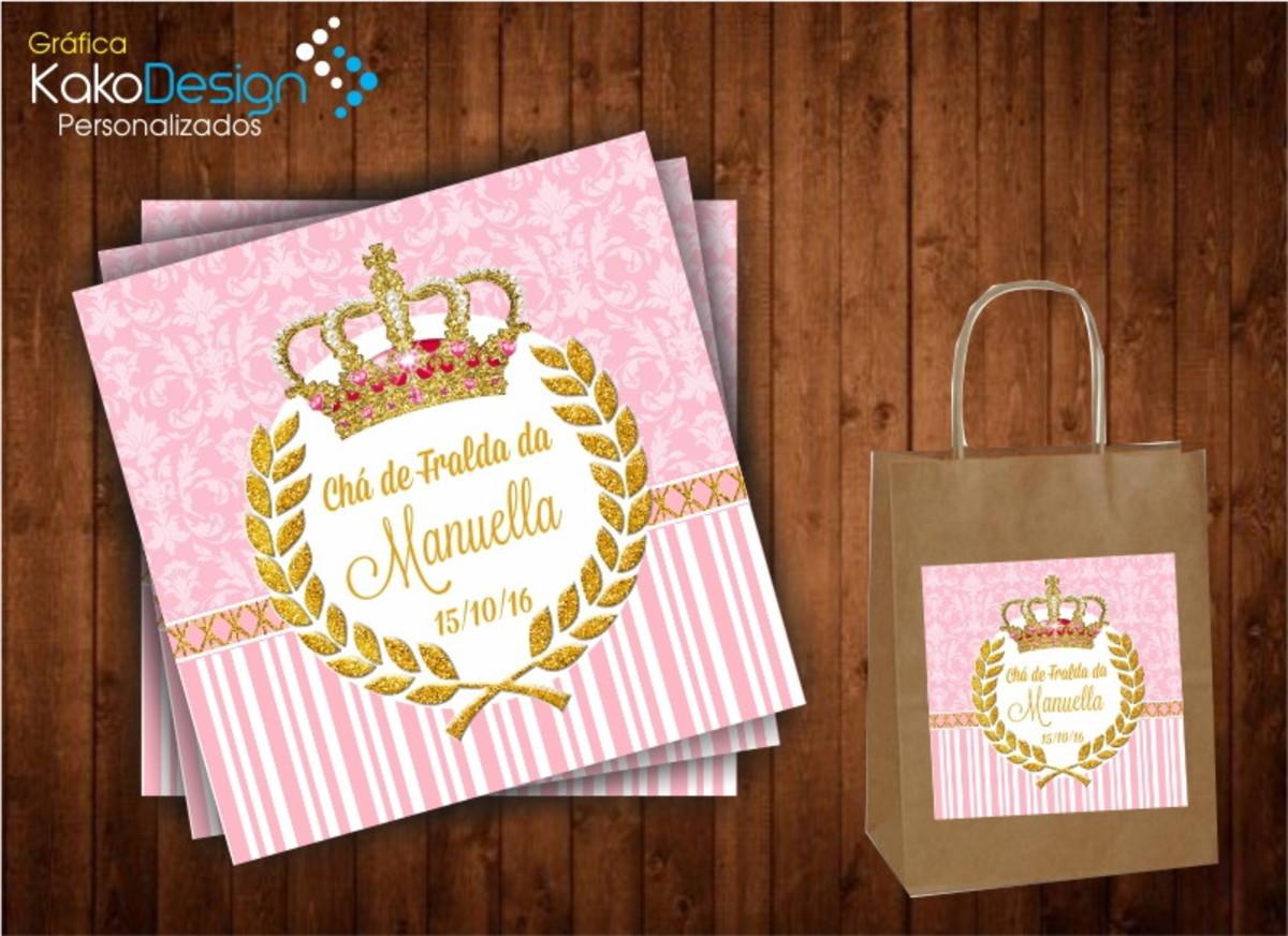 Adesivo para sacola kraft coroa princesa kako design for Das design des esszimmers