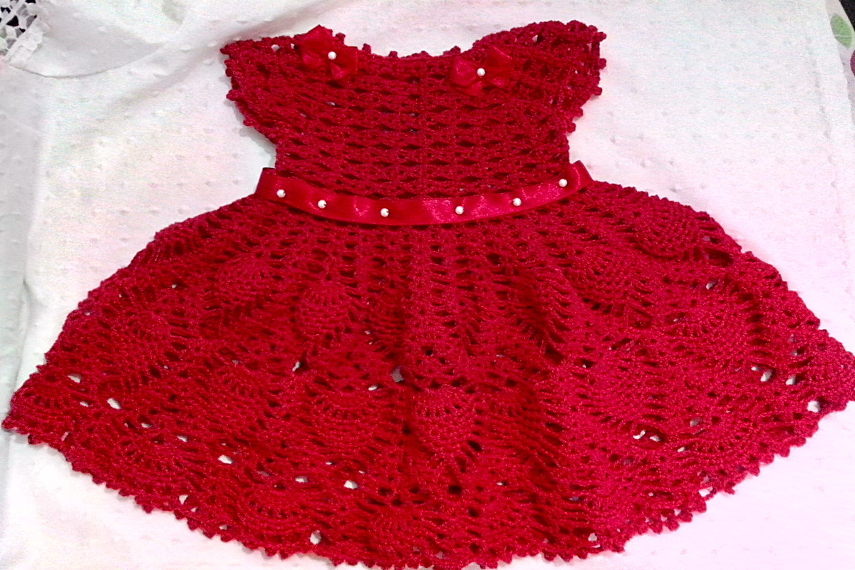 Vestido De Crochê Mocinha 2 Anos