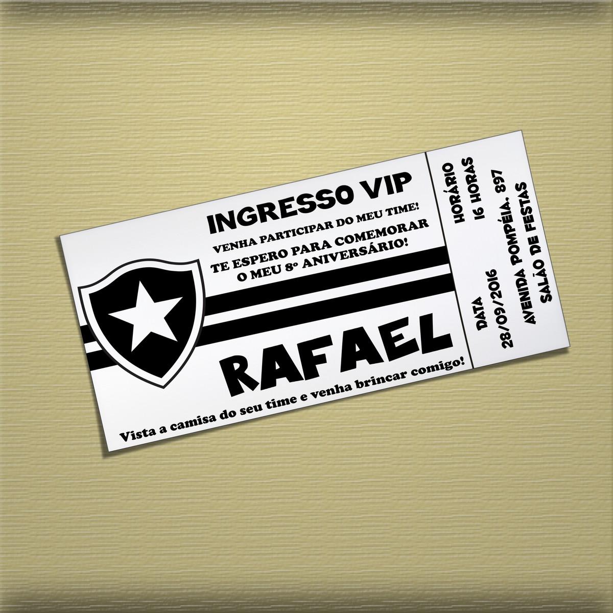Arte Convite Botafogo 003 no Elo7  bbf50fcae8106