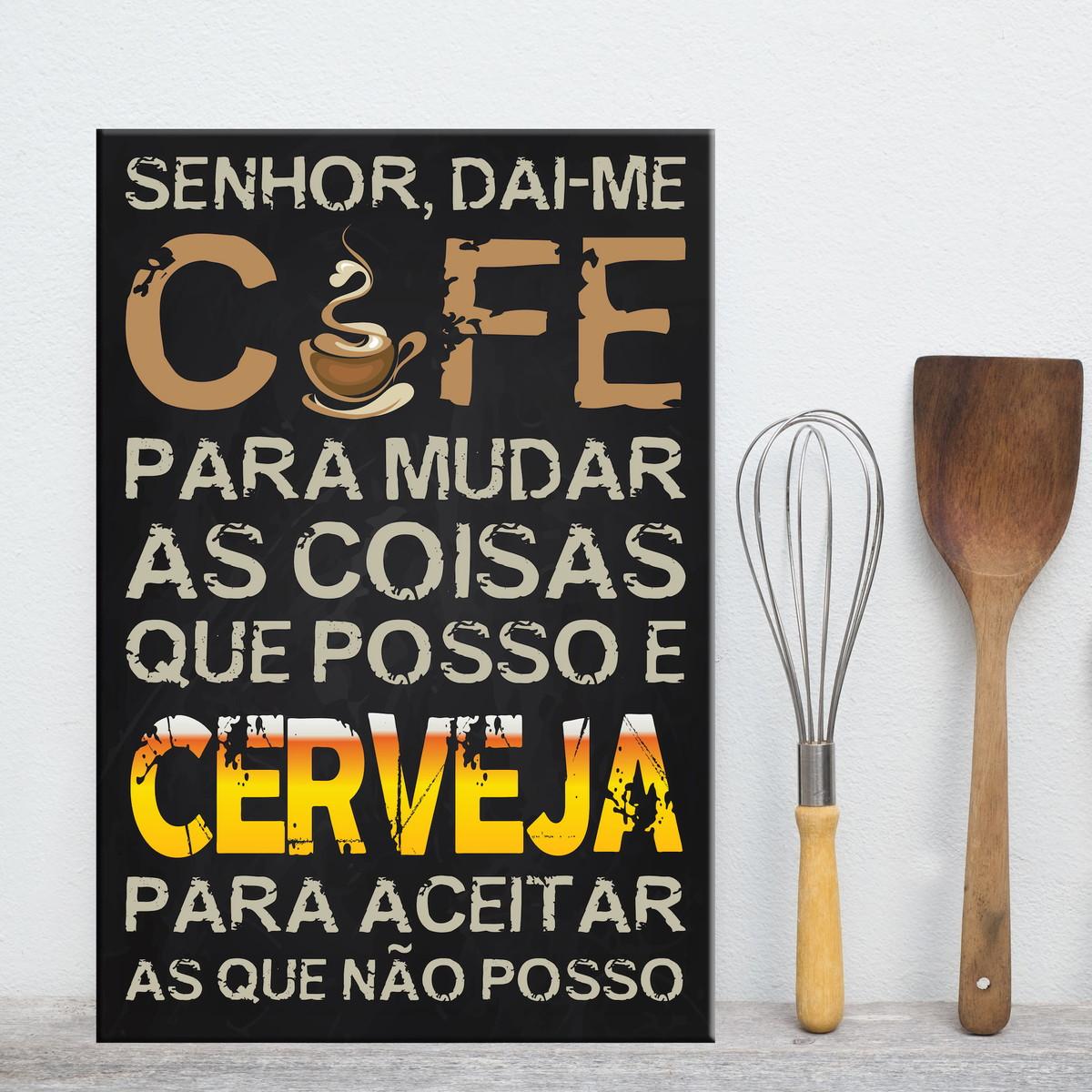 Placa Decorativa Mdf Frase Café E Cerveja No Elo7 Quartinhos 7ac49c