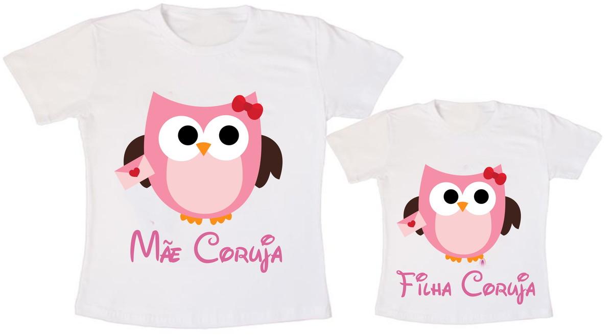 d785054773 Camiseta Mãe Coruja Filha Coruja no Elo7