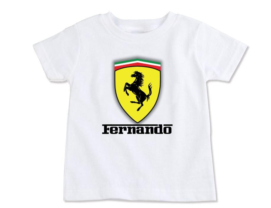 Camiseta Infantil Ferrari no Elo7  9e686e3fe2b