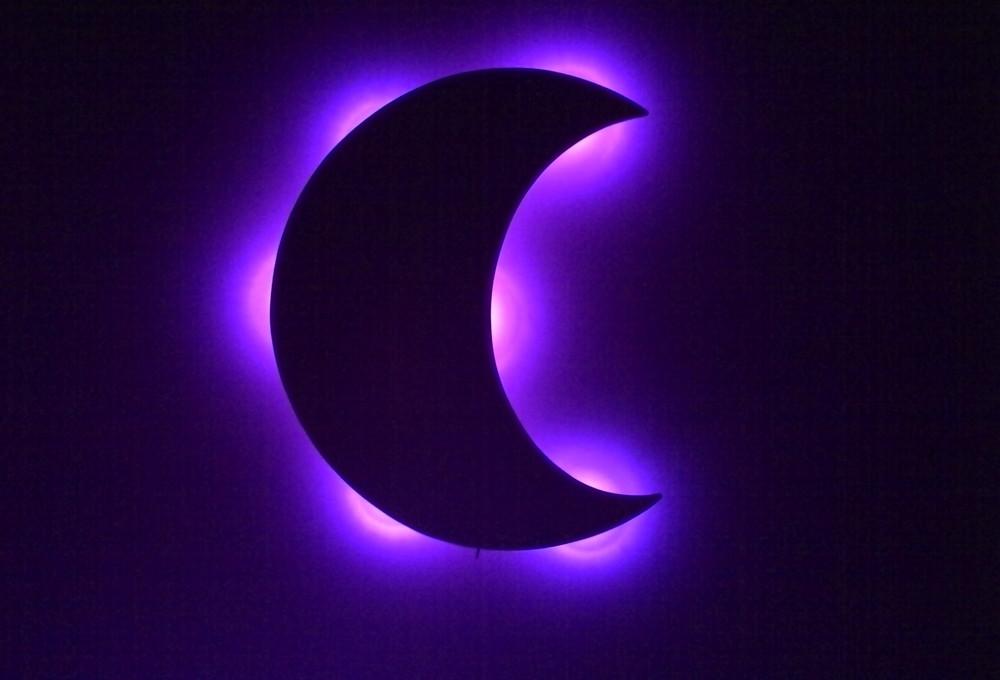 Enfeite De Lua ~ Lua com luz de led paredes quarto bebe no Elo7 Luartes Decoraç u00e3o (7B69DB)