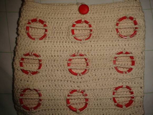Bolsa De Mao Em Croche : Bolsa de praia feita ? m?o em croch? m?stica wal