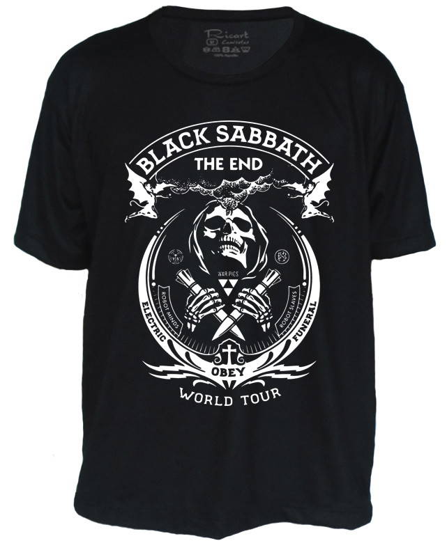 88ffd708a0 Camiseta Black Sabbath The End Banda de Rock no Elo7
