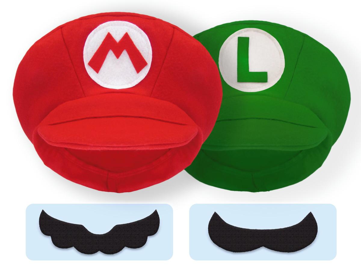 f8833bd61962c 02 un. Boina   Chapéu   Boné Super Mario Bros e Luigi Feltro no Elo7 ...