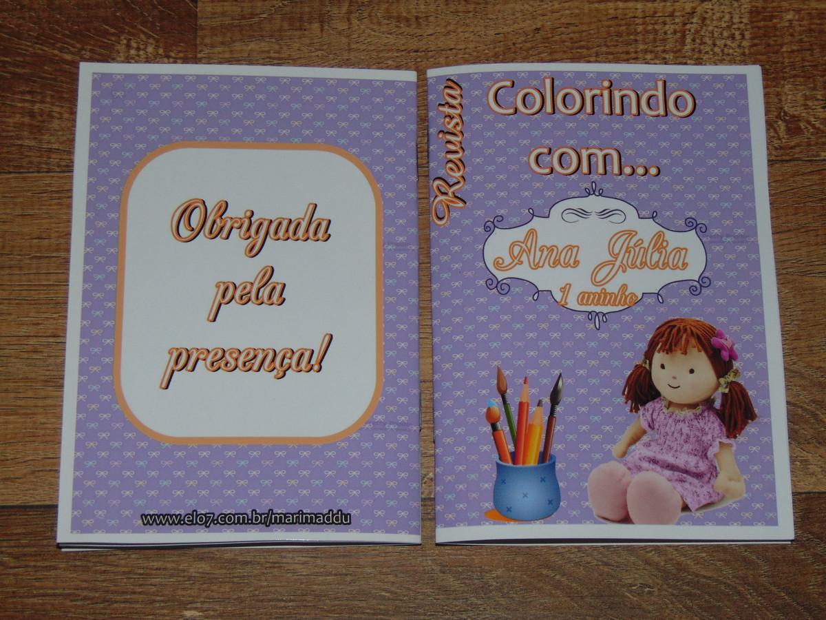 Mini Livro De Colorir Boneca De Pano 15x10 Cm No Elo7 Mari Maddu