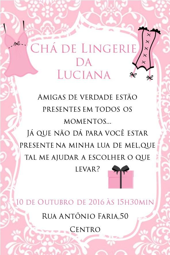 Convite Chá De Lingerie Modelo 04