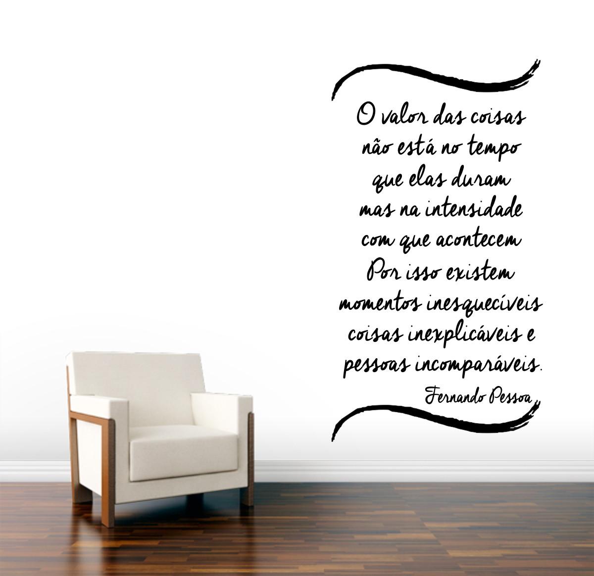 Adesivo Parede Frase O Valor Das Coisas No Elo7 Clicsul Adesivos