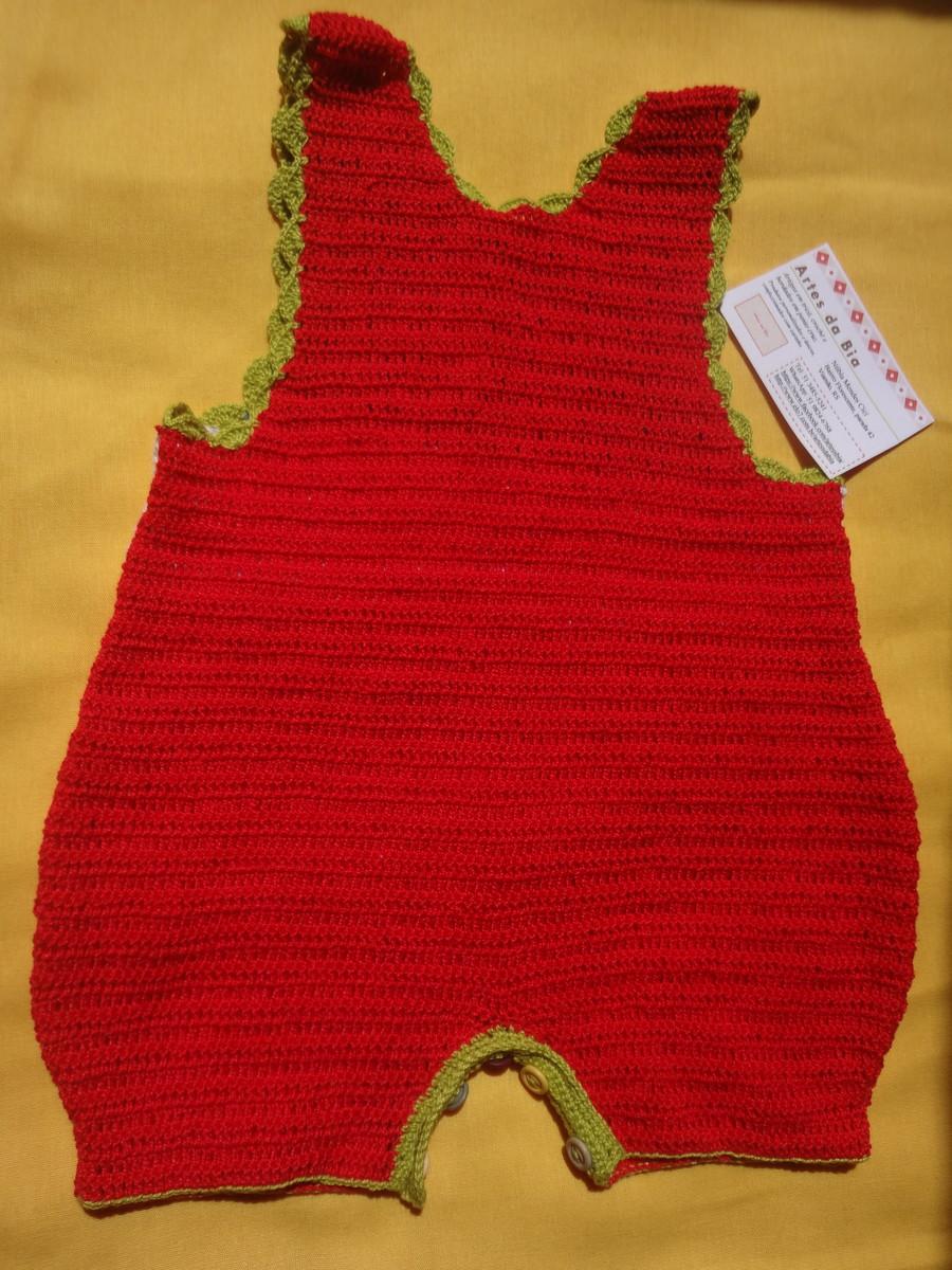 Jardineira para beb em croch artess da bia elo7 for Jardineira bebe 1 ano