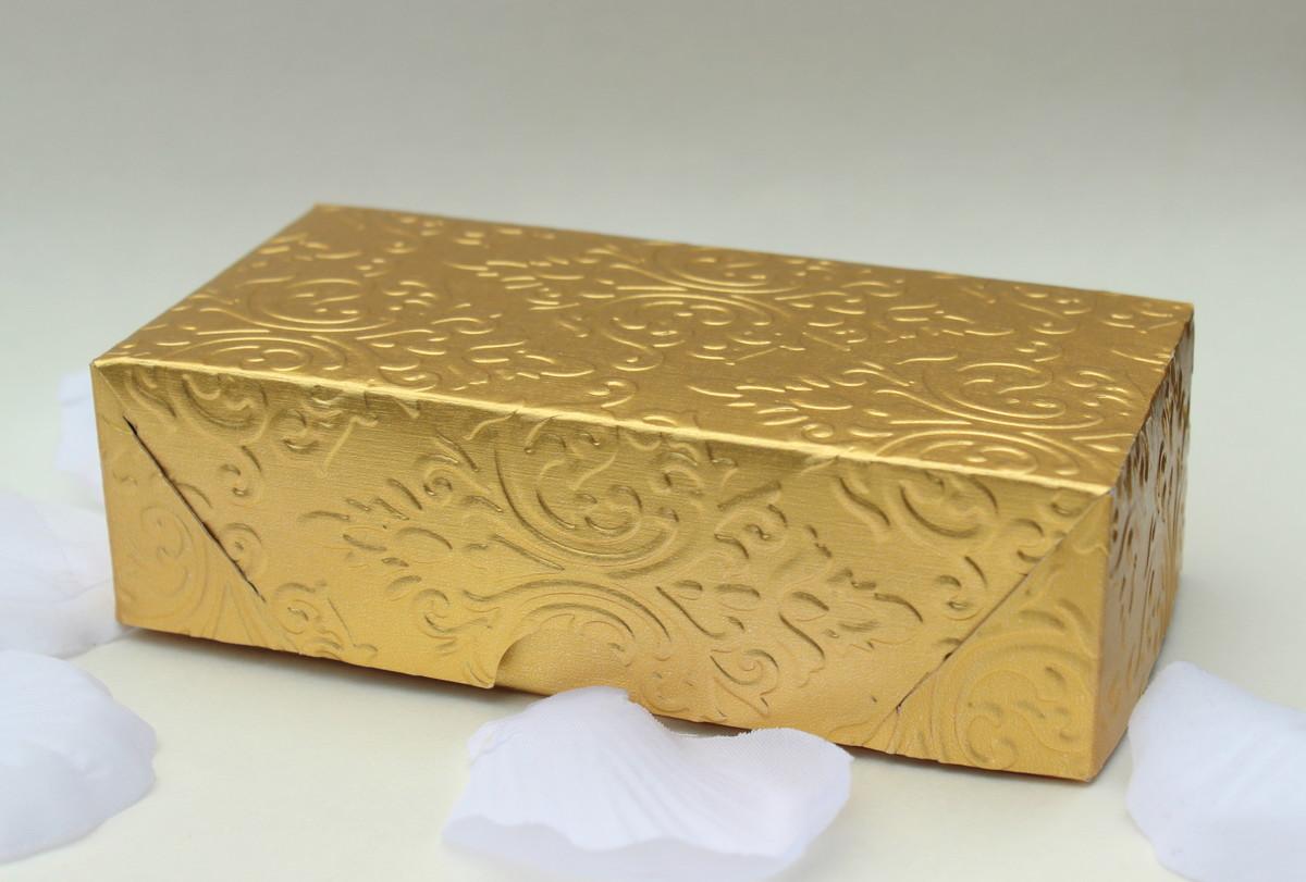 a3758a5ba Caixa para dois bem casados dourada no Elo7 | O Santo Casamento ...