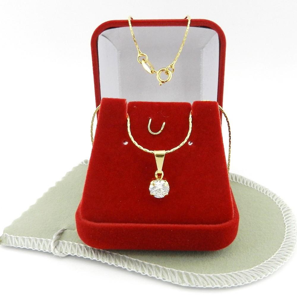 Corrente Feminina 40cm 0.5mm + Ponto Luz Folheado Ouro CR566 no Elo7 ... 50b44c970d