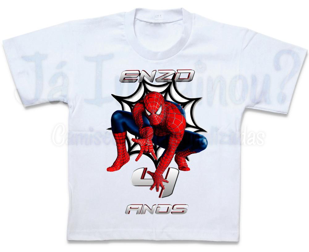 Camiseta Homem Aranha Personalizada no Elo7  4d8bc8d25acf3