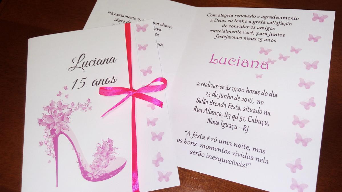 Convite De Quinze Anos: Luanne Elias - Convites