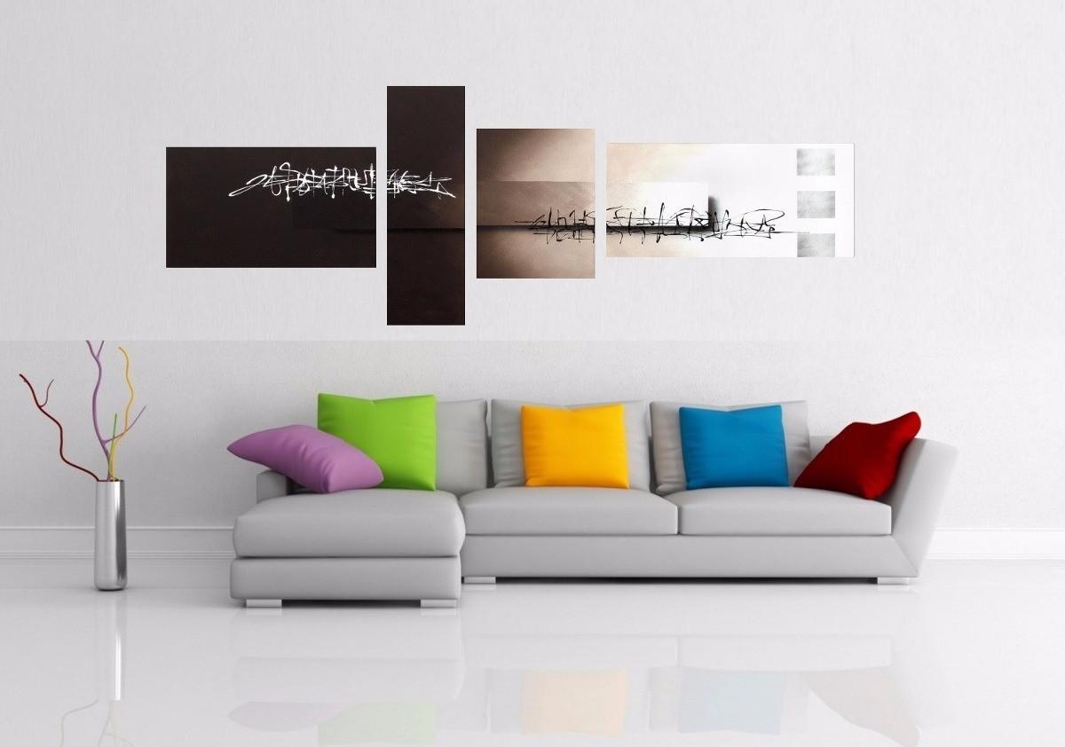 Quadro Decorativo Abstrato Kit C 04 No Elo7 Galeria Portinari  -> Parede Galeria Sala