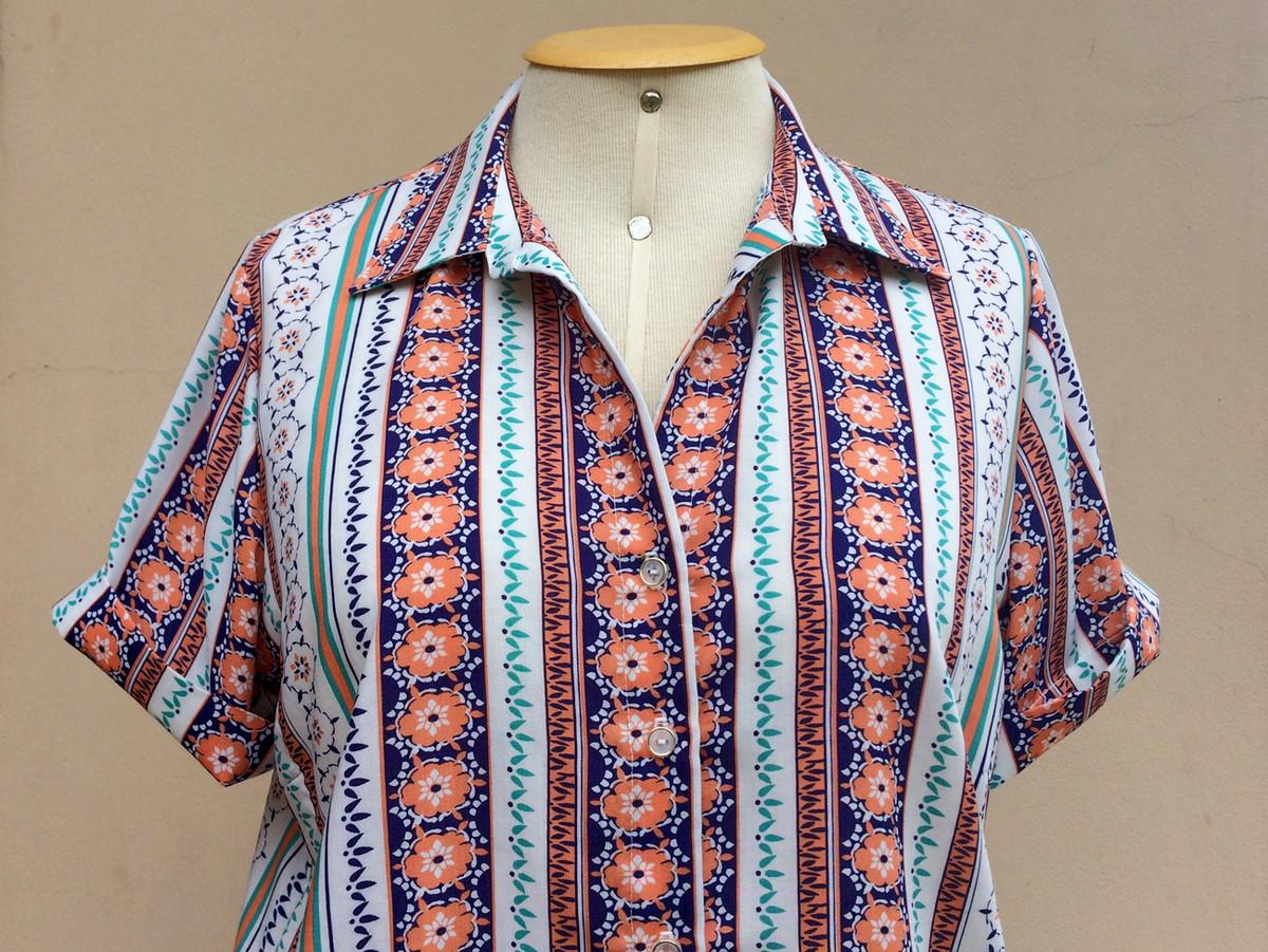 3b00e47f2 Camisa feminina viscose estampada tam GG no Elo7