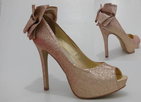 ae3499b254b Sapato Glitter Dourado no Elo7