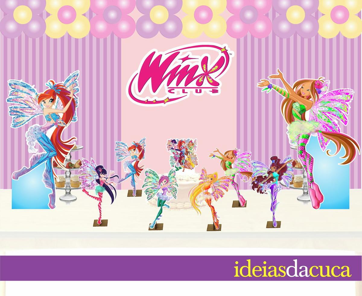 Decoração Winx ~ Kit Festa Decoraç u00e3o Completa Winx Ideias da Cuca Elo7