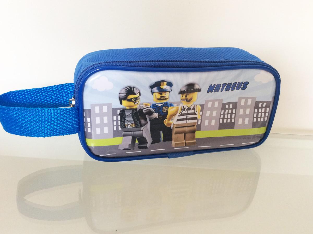 ec11b0711 Estojo Lego City Policia e ladrão - lona no Elo7 | Mundo da Criação ...