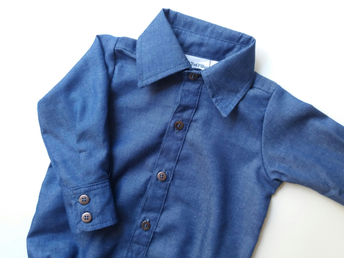 daad34e22a20c Body Camisa Jeans no Elo7