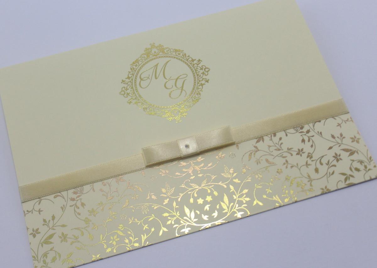 Convite De Casamento Dourado E Marfim No Elo7 Gm Convites 76c535