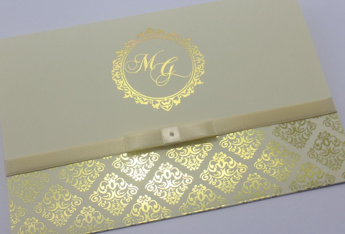 Convite De Casamento Dourado Marfim No Elo7 Gm Convites 76c52d