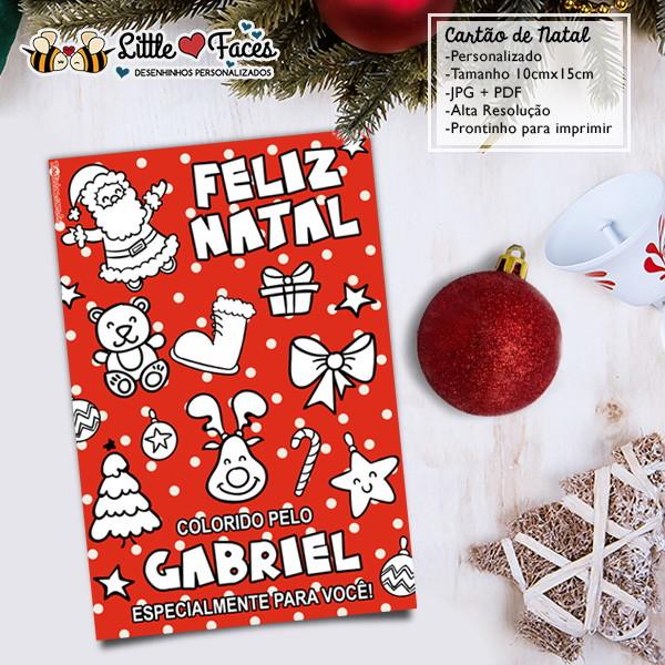 Cartao De Natal Para Colorir Digital No Elo7 Littlefaces 7de5cb