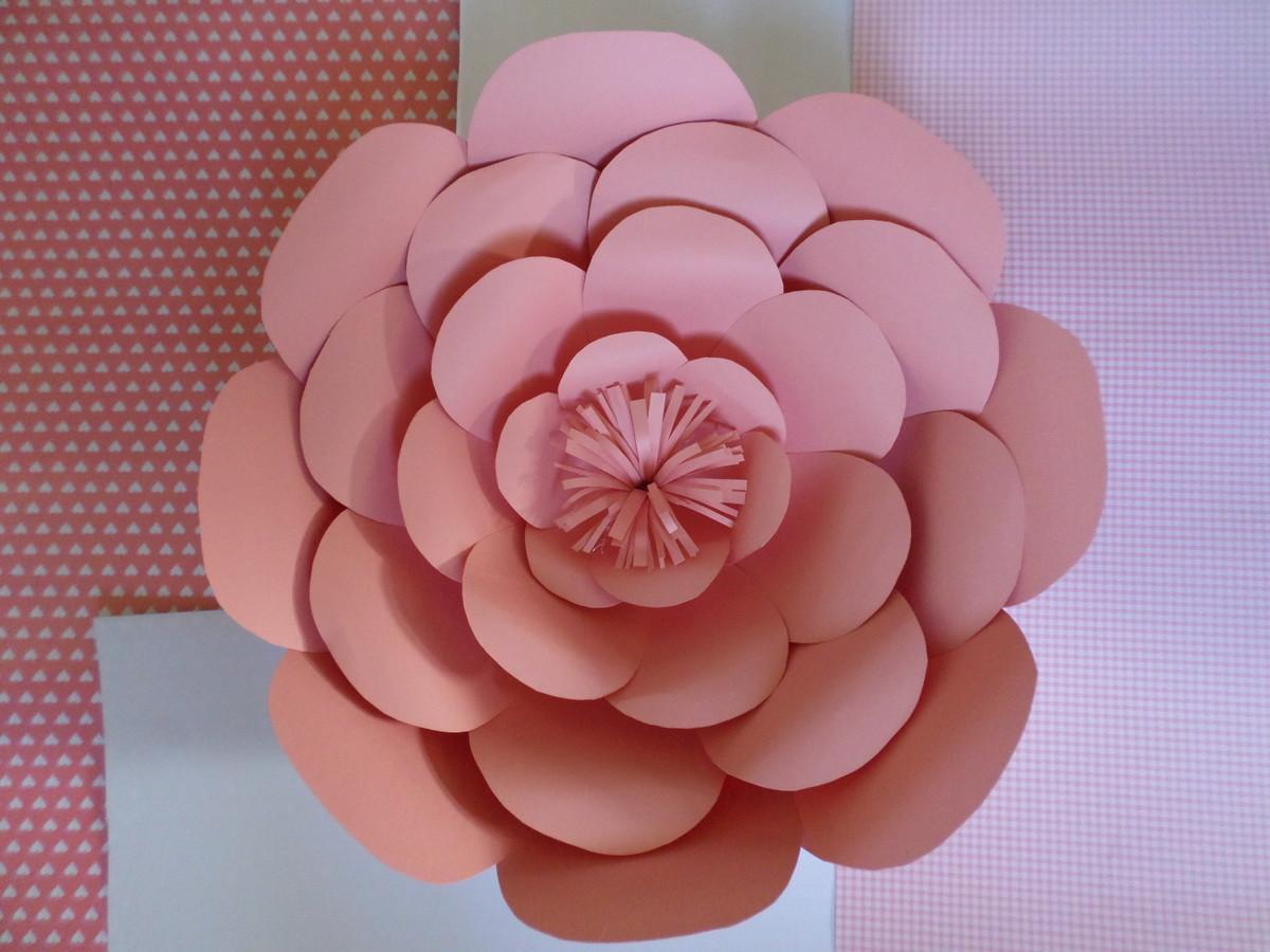 Flor gigante de papel 35cm atelier simples assim elo7 for Rosas de papel