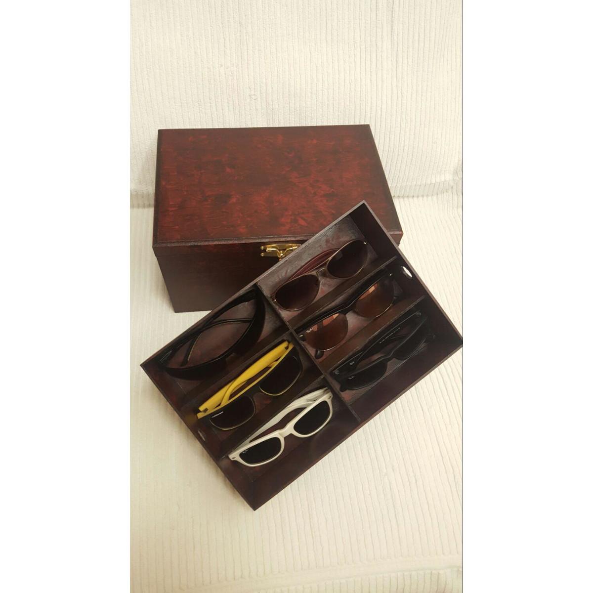 c65243a4f1a Caixa para óculos e relógio no Elo7