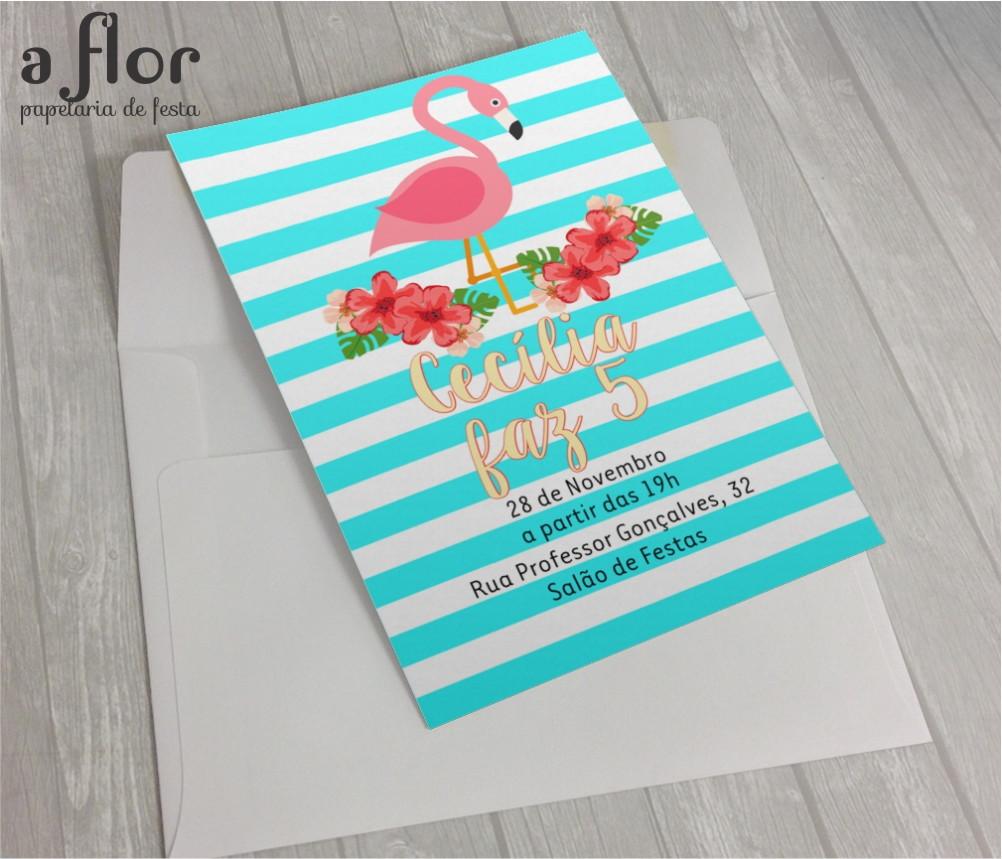 Convite Digital Flamingo No Elo7 A Flor 7e55d3