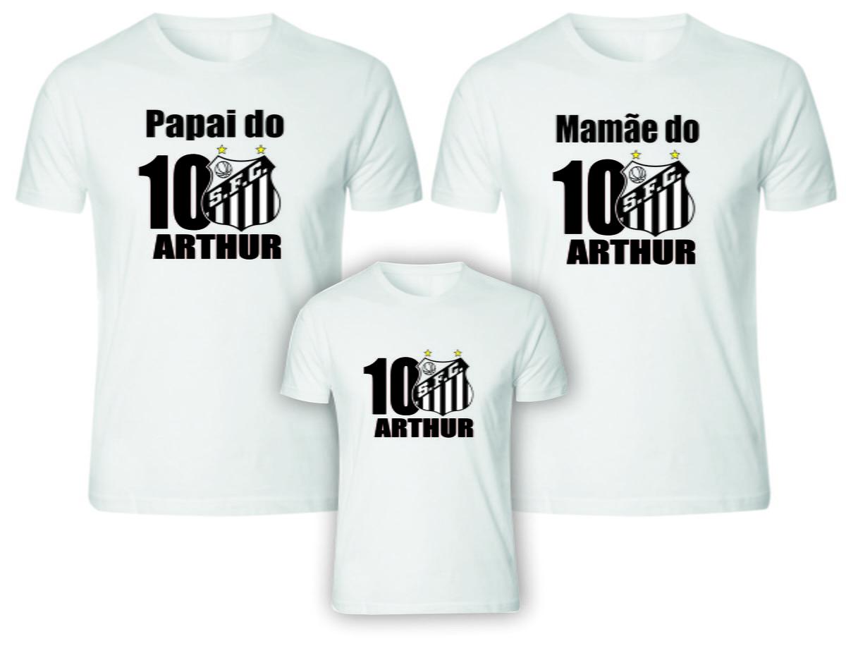 c892d1644f Camisetas Aniversário futebol Santos no Elo7