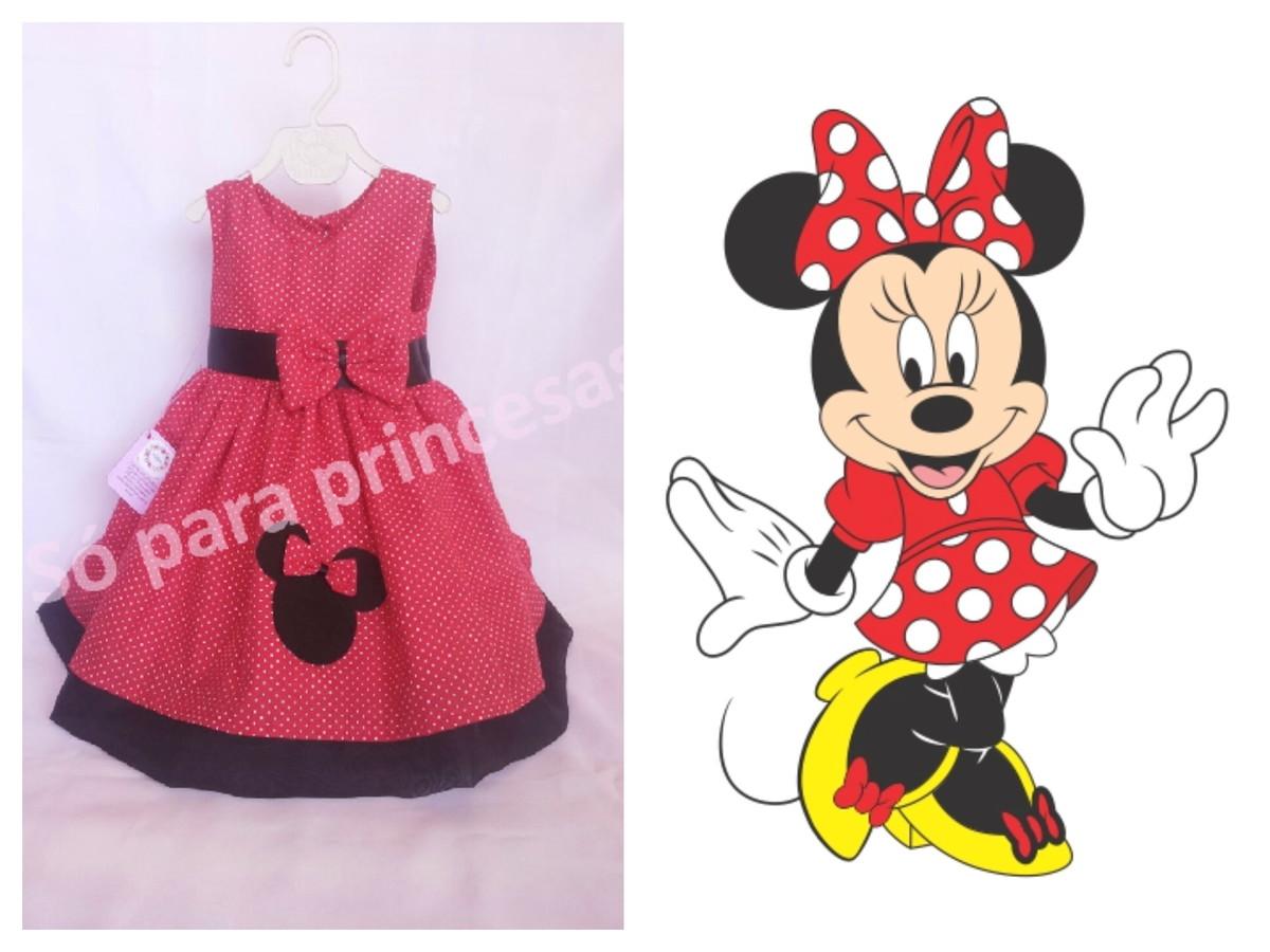 Vestido Minnie 0 A 1 Ano No Elo7 So Para Princesas Thaiane