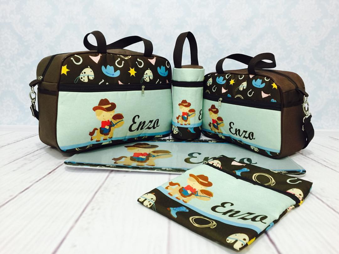 3a44673a0 Bolsa maternidade cavalinho 5 pçs no Elo7 | BBbag Bolsa Maternidade ...