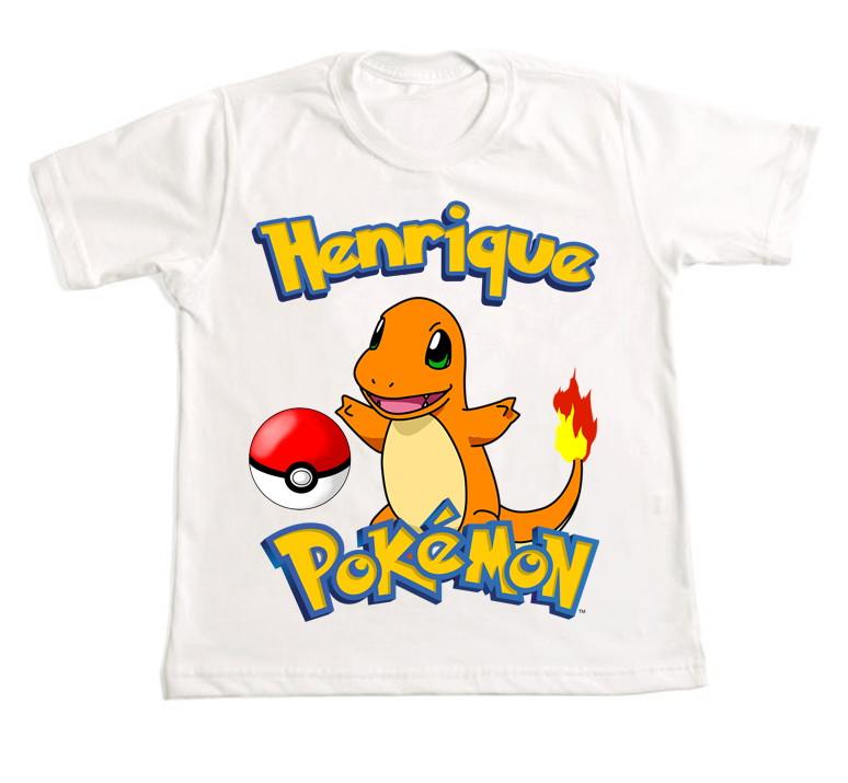 e9f562a5b4 Camiseta Personalizada Pokemon 7 no Elo7