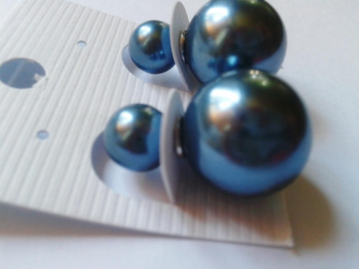 375df0204c2 Brinco Dior na cor azul petroleo no Elo7