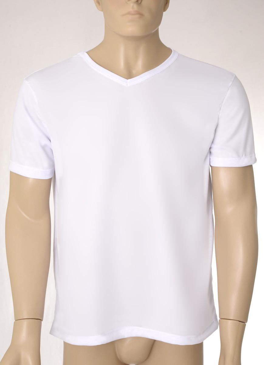 889e54e4d9 Camiseta Lisa 100% Poliéster em Gola V no Elo7