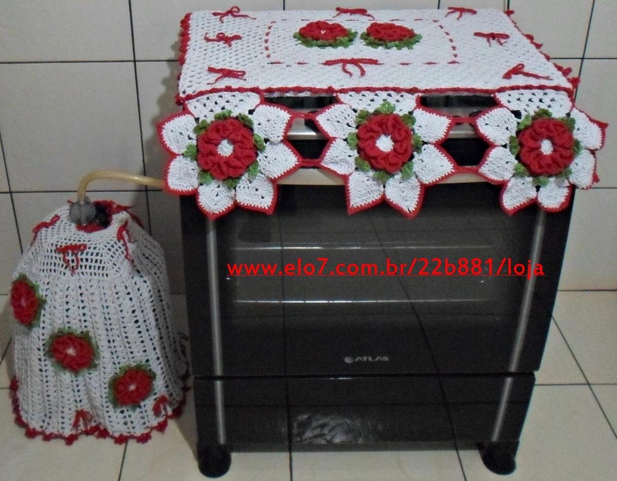0a800a4ba7 Jogo de Cozinha de Crochê Camélia 2 Peças no Elo7