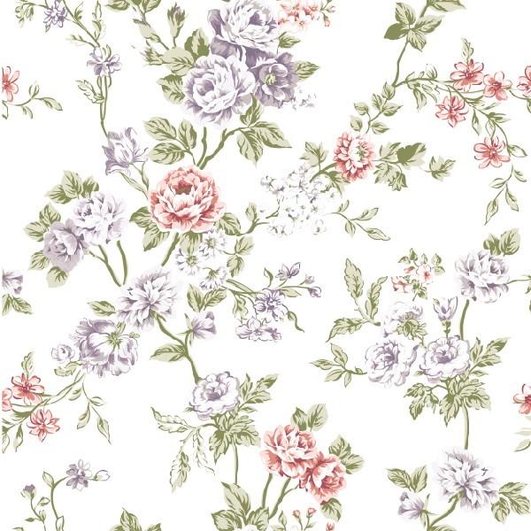 zoom papel de parede flores fundo branco