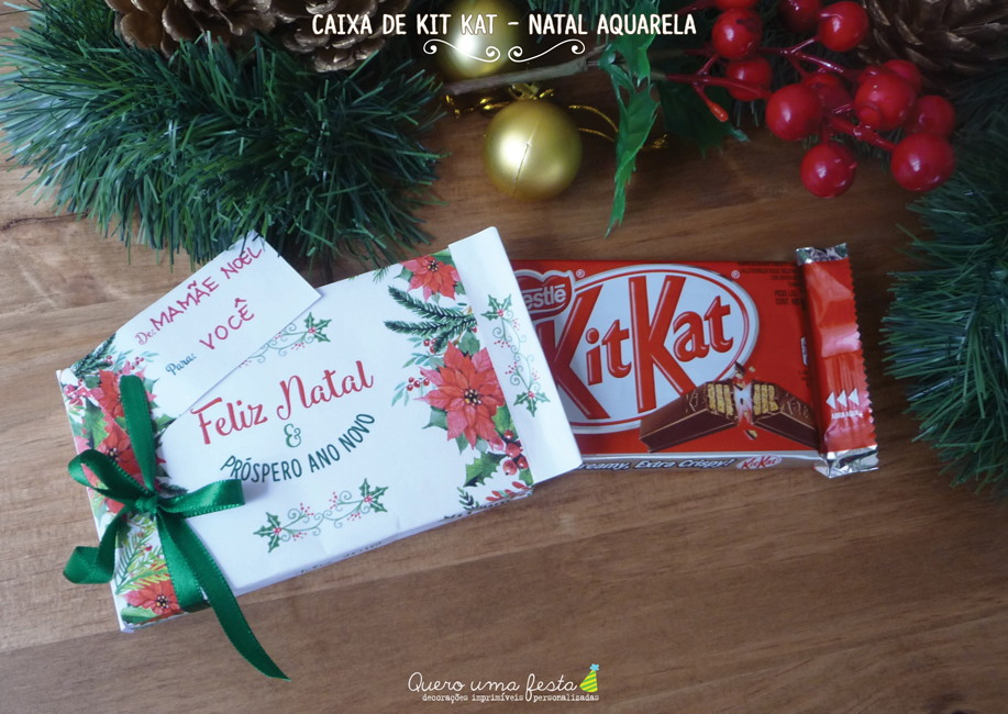 Caixa De Kitkat Aquarela Para Imprimir No Elo7 Quero Uma Festa