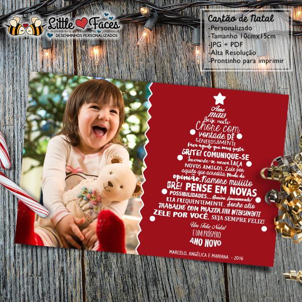 Cartao De Natal Personalizado Foto No Elo7 Littlefaces 7fe299