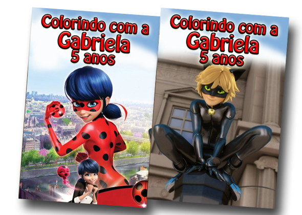 Revista Colorir Miraculous Lady Bug Cat No Elo7 Tudo De Festa
