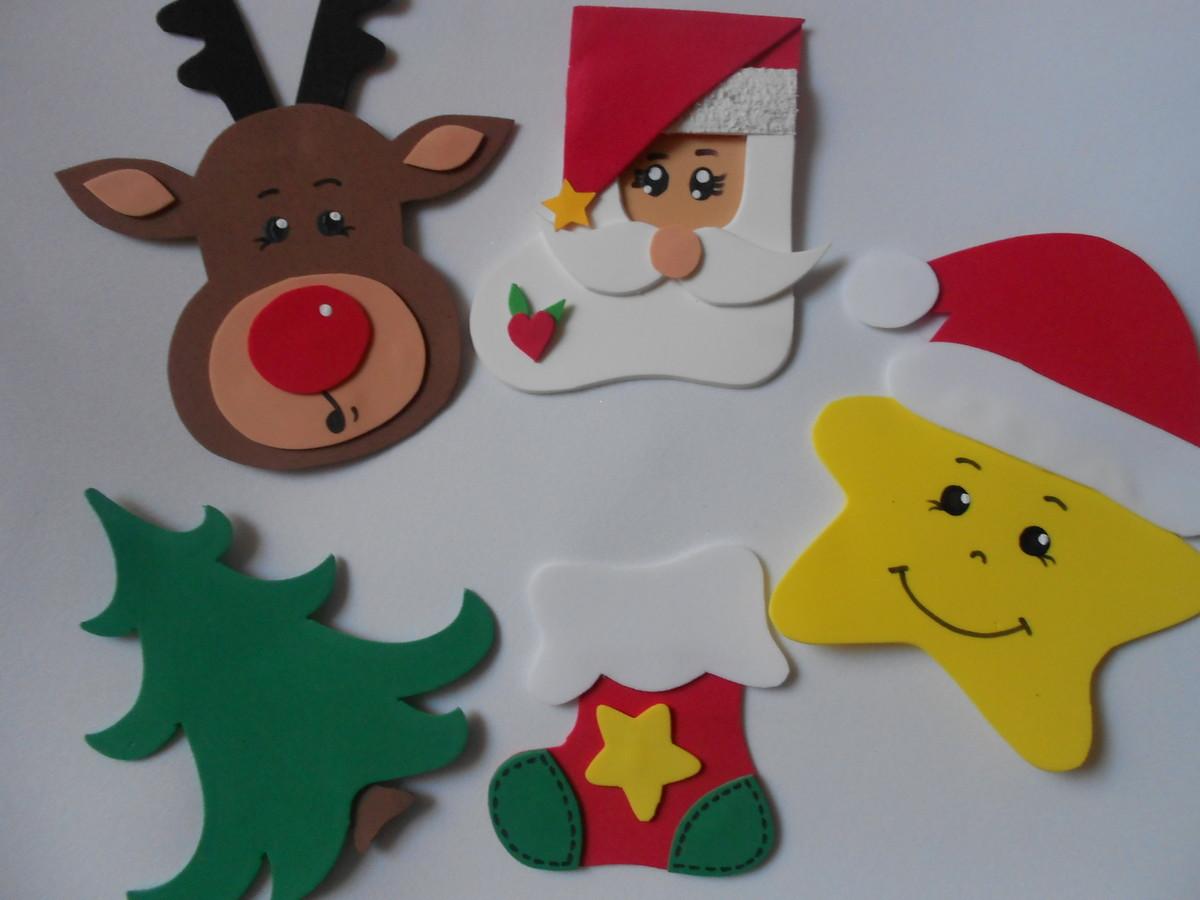 Aplique Motivos Natalinos Médio de EVA no Elo7 Petit G u00e2teau Eventos (801AF6) -> Decoração Em Eva Natal