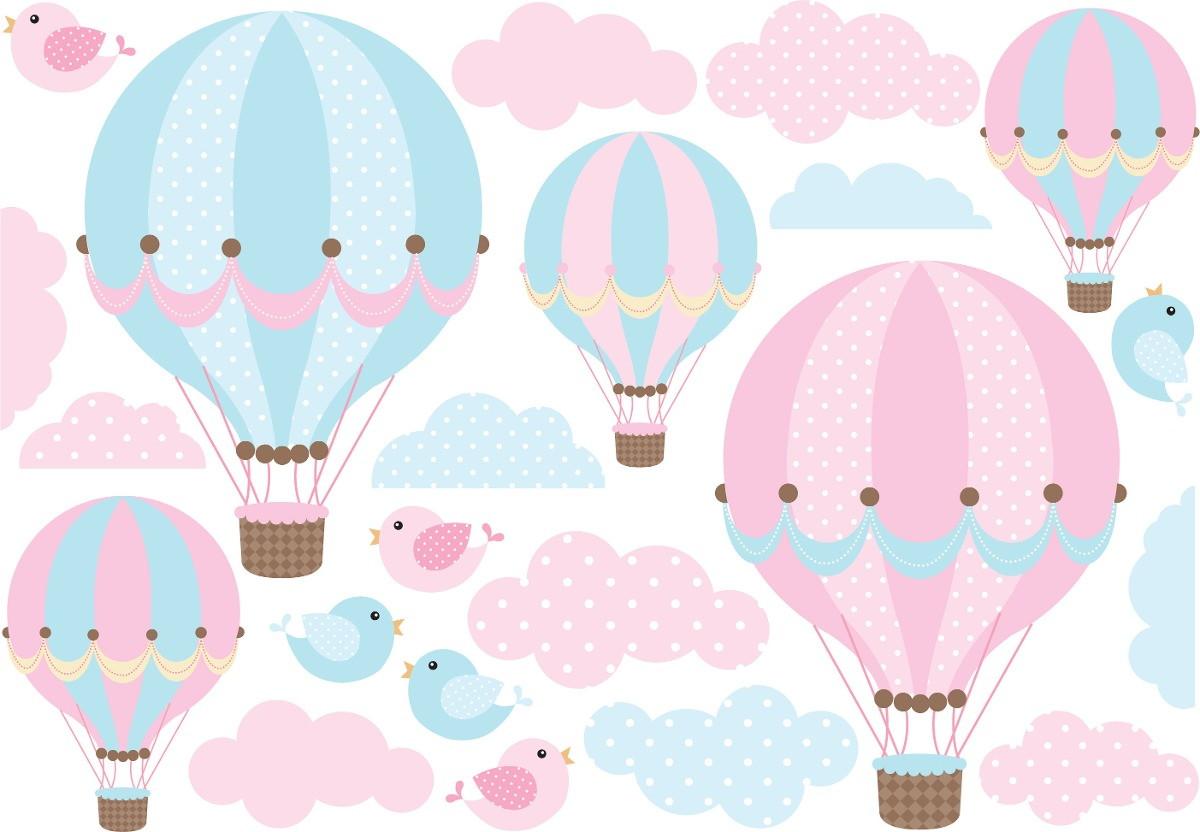 Artesanato Holandes ~ Adesivo balões rosa azul no Elo7 Quarto de Criança