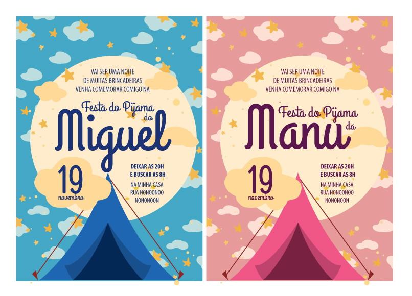 Well-known Convite ZAP (virtual) Festa do Pijama no Elo7   CompraFesta (80788D) ZK16